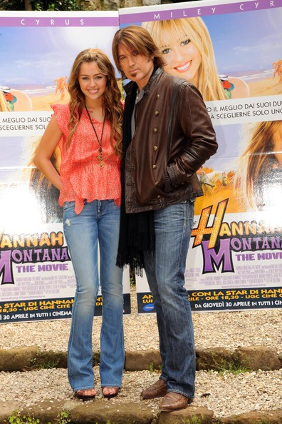 Miley Cyrus FILE PHOTO dated Monday April 20 2009. Billy Ray Cyrus and wife Leticia Cyrus have reportedly filed for divorce after 17 years of marriage. **ORIGINAL CAPTION** Miley Cyrus and Billy Ray Cyrus at the official photocall prior to the European premiere of
