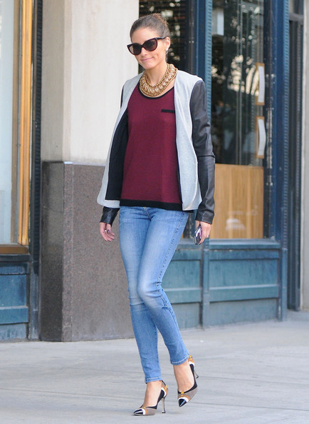 Fashion and style icon Olivia Palermo looks cool as she is seen strolling around Brooklyn in New York City.