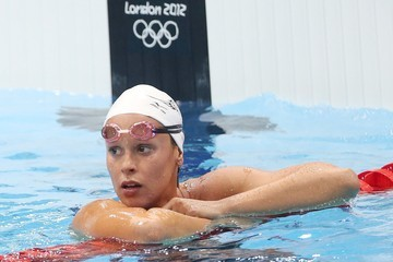 Federica Pellegrini Netherlands  at the 200m Women's Freestyle swimming competition at the Summer Olympics 2012 in London
