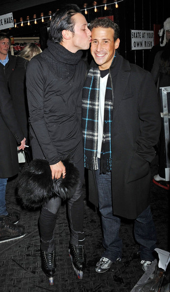 Figure skater Johnny Weir hits the rink for A Midwinter's Night Skate Party at the Standard Hotel in NYC