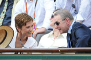 Chantal Jouanno, French minister for sports, Jacques Rogge, IOC President, and his wife Anne Rogge attend the Women's final during the 2011 French Open, second tennis Grand Slam of the year played on clay court, held at the Stade Roland-Garros in Paris.