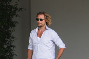 Gabriel Aubry Celebs Arrive at Fergie's Baby Shower
