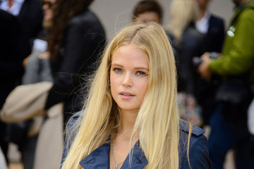 Gabriella Wilde LFW: Arrivals at Burberry Prorsum