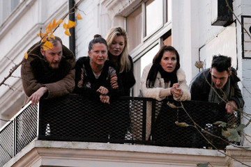 Kate Moss Sadie Frost Gail Porter and Daughter Out in London