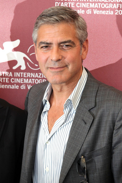 "George Clooney at the photocall for ""The Ides of March"", held as part of the Venice Film Festival 2011."