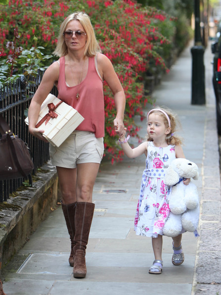 Geri halliwell geri halliwell and her adorable daughter bluebell head