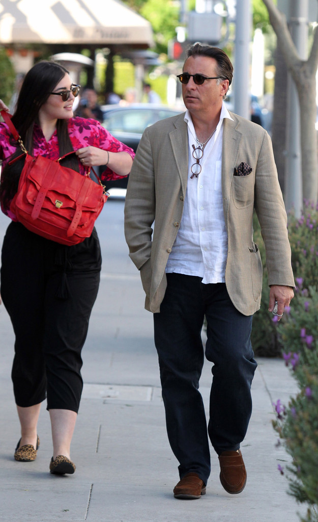 93ade0c34782 Andy Garcia Photos Photos - Andy Garcia Takes His Daughters to Lunch ...