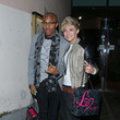 Group MK1's Charlie and Sim, recent contestants on the 'X Factor', have their goody bags in hand as they make their way out of the Lipsy Fragrance launch party at Gilgamesh in London
