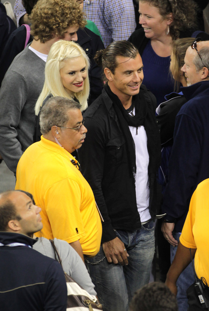 gwen stefani and gavin rossdale at the us open zimbio. Black Bedroom Furniture Sets. Home Design Ideas