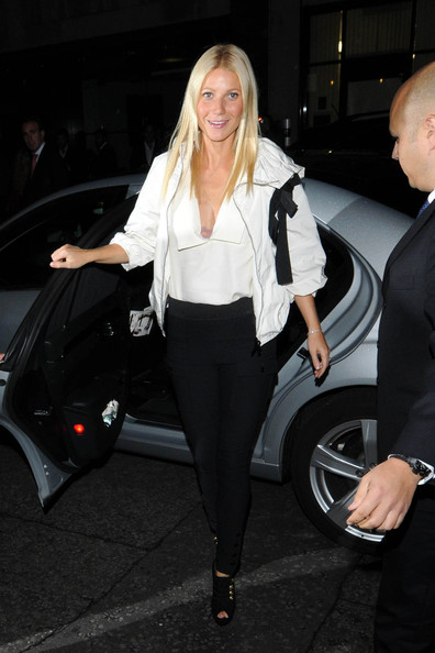 "Gwyneth Paltrow at Stella McCartney's London store for the ""Fashion's Night Out"" event"