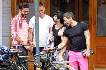 Harry Louis Marc Jacobs and Harry Louis Grab Lunch in NYC
