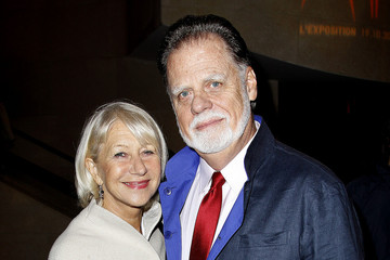 Helen Mirren Taylor Hackford Helen Mirren with husband Taylor Hackford at the launch party for the Metropolis exhibition at the Cinematheque Francaise in Paris