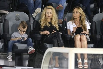 Helena Seger Footballer Zlatan Ibrahimovic of PSG joined his wife Helena Seger and his kids, Maximilian Ibrahimovic and Vincent Ibrahimovic during the second half of the friendly match between Paris Saint-Germain and Lekhwiya Sports Club (5-1) held at the Al-Sadd Spor