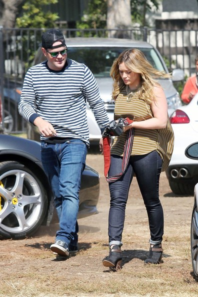 Hilary Duff and Family at the Pumpkin Patch