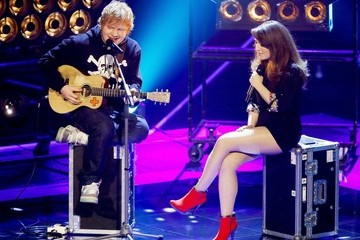 Holland English pop sensation Ed Sheeran seen performing live on 'The Voice' in Holland