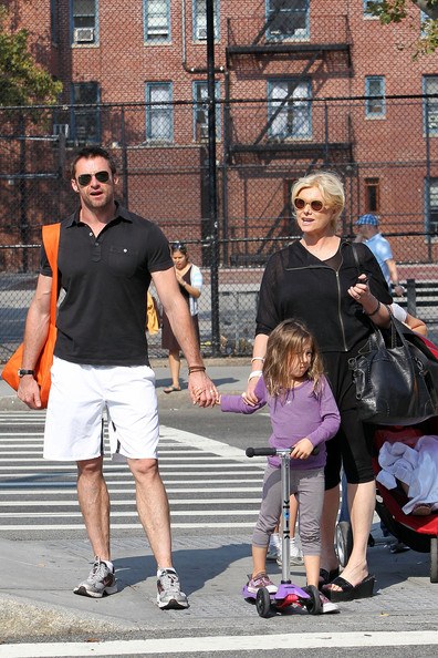 Hugh Jackman, Deborra-Lee Furness and Ava Jackman Out and About