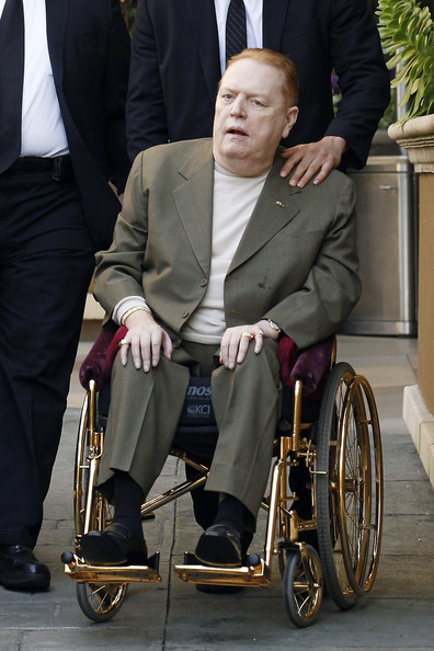 Larry Flynt Is Wheeled To His Bentley Zimbio