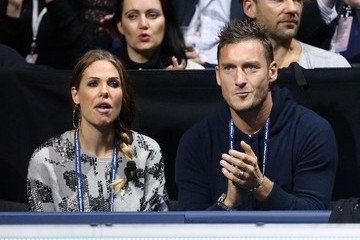 Ilary Blasi Francesco Totti and his wife Ilary Blasi seen watching Novak Djokovic take on Roger Federer at the ATP World Tour Finals 2012 at the O2 Arena in London