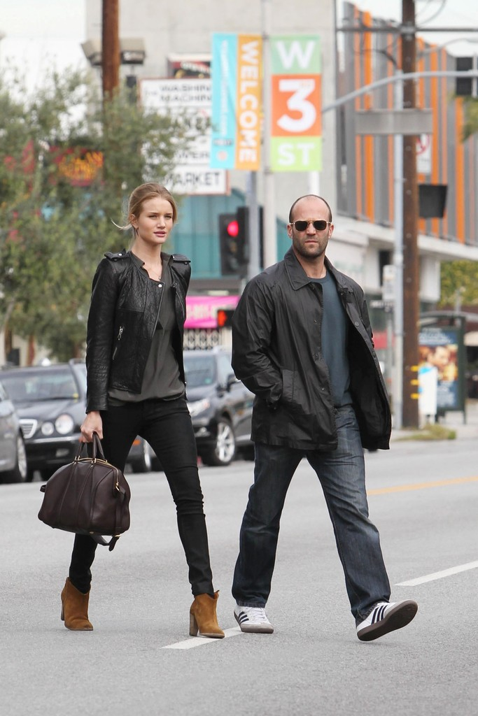 Jason Statham and Rosie Huntington-Whiteley at Joan's on ...