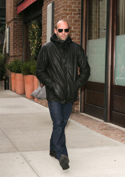 Jason statham arrives home in nyc in this photo jason statham jason