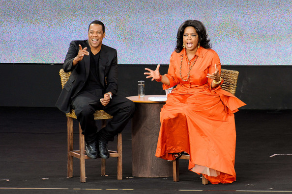 oprah winfrey house. Oprah Winfrey and Guests at