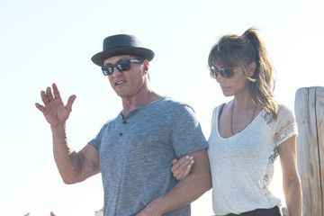 Jennifer Flavin Sylvester Stallone Hangs Out in St. Tropez