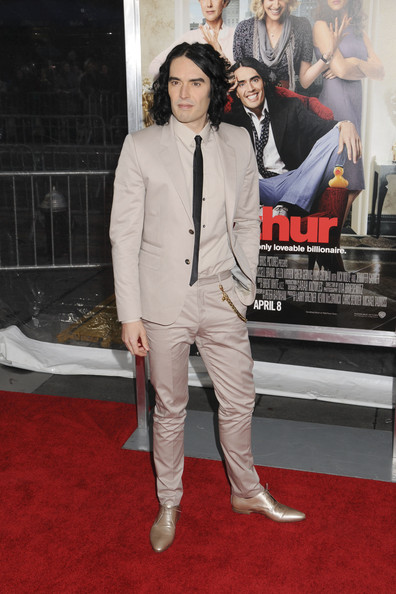 "Russell Brand at the New York premiere of ""Arthur"" held at the Ziegfeld Theatre."