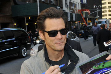 Jim Carrey Jim Carrey Drops by 'Letterman'