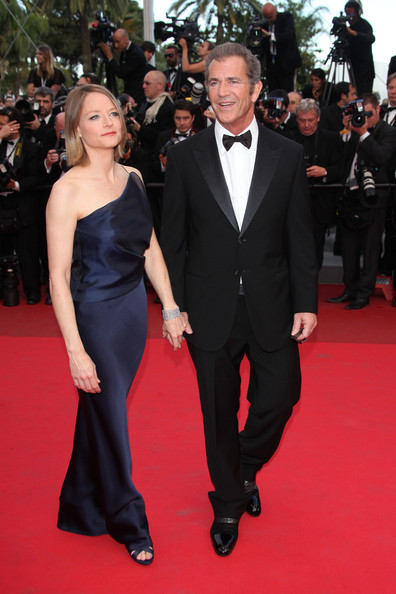 "Jodie Foster and Mel Gibson arrive for the premiere of their new film ""The Beaver"", held during the 64th Annual Cannes Film Festival at the Palais des Festivals."
