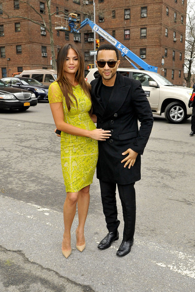 5 Gorgeous New Photos of Beautiful Couple Chrissy Teigen and John Legend at Fashion Week in New York