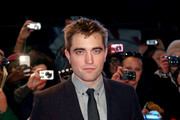 "Robert Pattinson arrives at the European Premiere of ""The Twilight Saga: Breaking Dawn - Part 2"" at Empire Leicester Square in London."