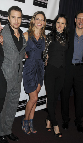 "Sam Rockwell, Hilary Swank and Juliette Lewis at the French Institute for a screening of ""Conviction"" in New York."
