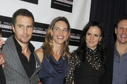 """Sam Rockwell, Hilary Swank and Juliette Lewis at the French Institute for a screening of """"Conviction"""" in New York."""