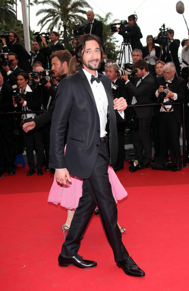 """Adrien Brody at the premiere screening of """"Midnight in Paris"""" on the opening night of the  64th Annual Cannes Film Festival."""