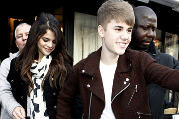 Justin Bieber Selena Gomez and Justin Bieber Together in Paris