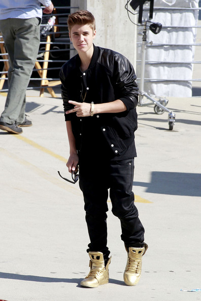 "Justin Bieber - Justin Bieber is spotted on the set of his new music video ""Boyfriend"""