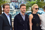 Justin Timberlake, Carey Mulligan and Garrett Hedlund attend the photocall for 'Inside Llewyn Davis' during the 66th Annual Cannes Film Festival at Palais des Festivals in Cannes.