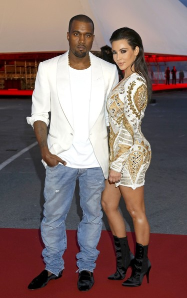 Kanye West - Kim Kardashian and Kanye West Together at Cannes