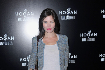 Delphine Chaneac Celebs at the Hogan by Karl Lagerfeld Party in Paris