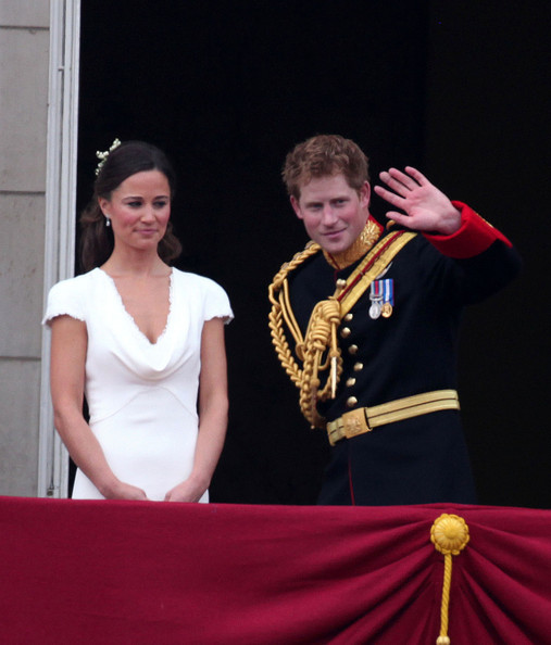 Kate Middleton Prince Harry and Pippa Middleton, sister of Kate, wave to awaiting crowds from the balcony at Buckingham Palace after the earlier marriage of Prince William to Catherine Middleton at Westminster Abbey which was watched by 2 billion people across the globe.