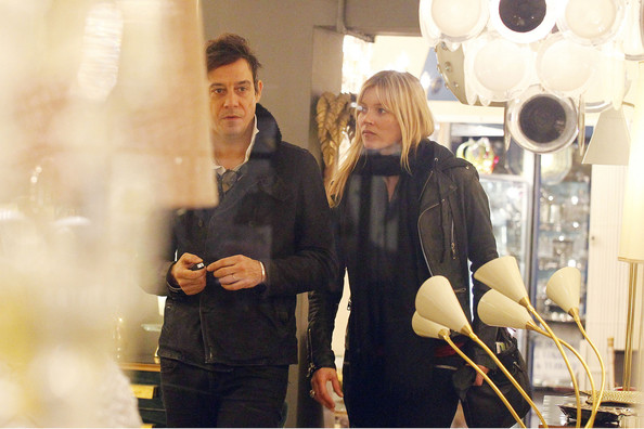 Kate Moss Kate Moss, international supermodel, goes shopping in London with her husband Jamie Hince of the Kills at the Alfies Antique Store in Lisson Grove. Moss recently appeared in the 2012 edition of the highly esteemed Pirelli calendar, this year's theme was a greek theme created by fashion designer Karl Lagerfeld.