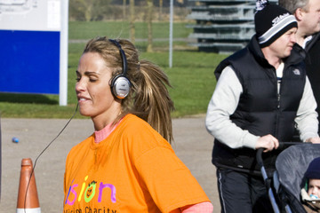 Sophie Price Katie Price at the 6-mile Mark of the Silverstone Half Marathon