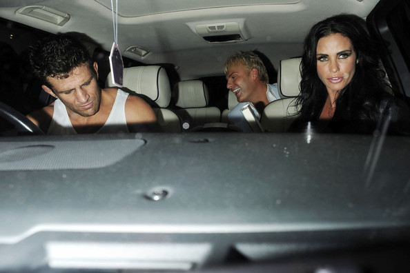 Katie Price and Alex Reid Get in Their Car