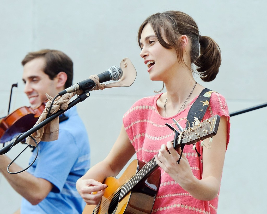 "Keira Knightley sings a song on screen for ""Can a Song ... Keira Knightley Sing"