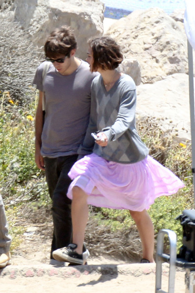 "Keira Knightley is visited by her boyfriend James Righton while on the Los Angeles set of her upcoming film ""Seeking a Friend For the End of the World"". Also spotted on the beach set of the upcoming film was Knightley's co-star Steve Carrell."