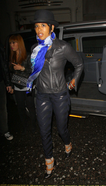 Kelis Singer Kelis is seen arriving at the Whiskey Mist night club for a night out with friends.