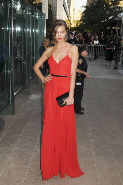 Karlie Kloss at the 2011 CFDA Fashion Awards at Alice Tully Hall in the Lincoln Center in New York.