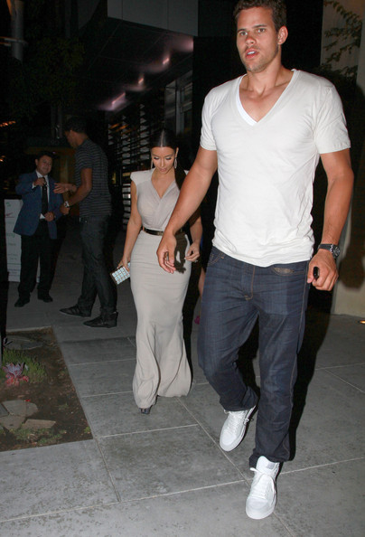 Kim Kardashian Kim Kardashian  and her basketball star husband-to-be Kris Humphries enjoy an evening out at Spago restaurant in Beverly Hills. The couple will marry on Saturday August 20 in a £6 million bash.
