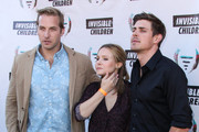 August 10, 2013. Chris Lowell, Kristen Bell and Ryan Hansen attend the 1st Annual Founders Party for the Invisible Children's 4th Estate Leadership Summit at Royce Hall, UCLA in Los Angeles.