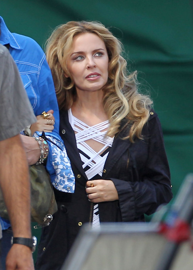 Kylie Minogue Shoots A Music Video In Los Angeles